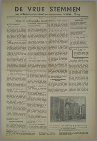 Vrije Stemmen van Schouwen-Duiveland, tevens mededeelingenblad Militair Gezag 1945-11-27