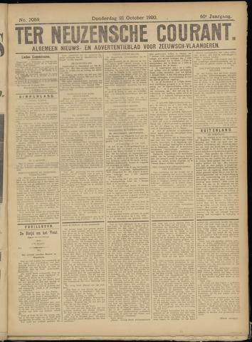 Ter Neuzensche Courant. Algemeen Nieuws- en Advertentieblad voor Zeeuwsch-Vlaanderen / Neuzensche Courant ... (idem) / (Algemeen) nieuws en advertentieblad voor Zeeuwsch-Vlaanderen 1920-10-21