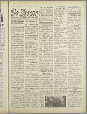 De Zeeuw. Christelijk-historisch nieuwsblad voor Zeeland 1944-02-25