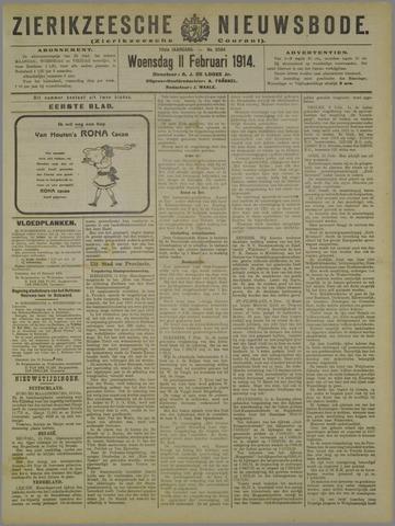 Zierikzeesche Nieuwsbode 1914-02-11