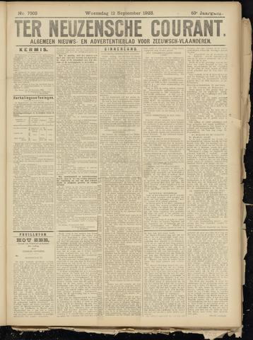 Ter Neuzensche Courant. Algemeen Nieuws- en Advertentieblad voor Zeeuwsch-Vlaanderen / Neuzensche Courant ... (idem) / (Algemeen) nieuws en advertentieblad voor Zeeuwsch-Vlaanderen 1923-09-12