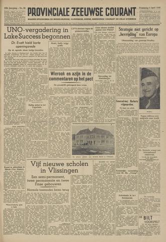 Provinciale Zeeuwse Courant 1949-04-06