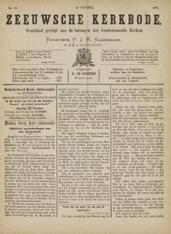 Zeeuwsche kerkbode, weekblad gewijd aan de belangen der gereformeerde kerken/ Zeeuwsch kerkblad 1887-10-22