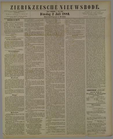 Zierikzeesche Nieuwsbode 1889-07-02