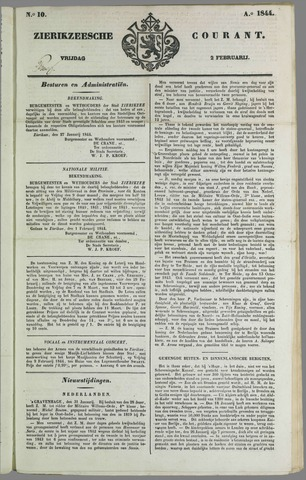 Zierikzeesche Courant 1844-02-02