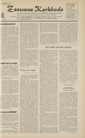 Zeeuwsche kerkbode, weekblad gewijd aan de belangen der gereformeerde kerken/ Zeeuwsch kerkblad 1963-10-11