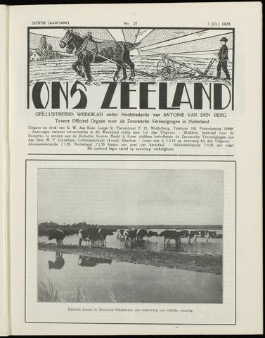 Ons Zeeland / Zeeuwsche editie 1928-07-07