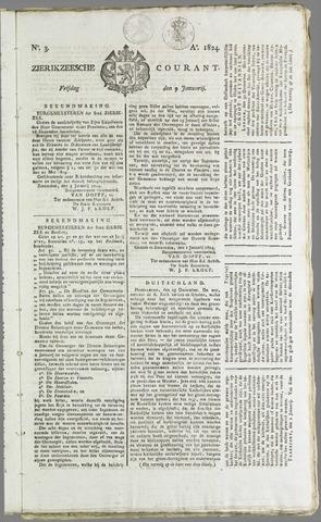Zierikzeesche Courant 1824-01-09