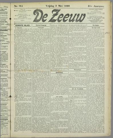De Zeeuw. Christelijk-historisch nieuwsblad voor Zeeland 1920-05-07