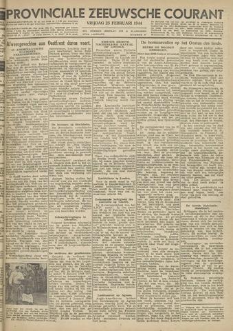 Provinciale Zeeuwse Courant 1944-02-25