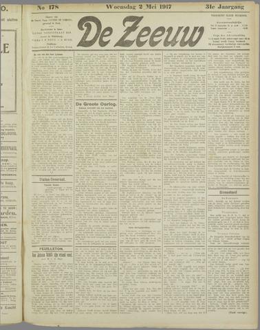 De Zeeuw. Christelijk-historisch nieuwsblad voor Zeeland 1917-05-02