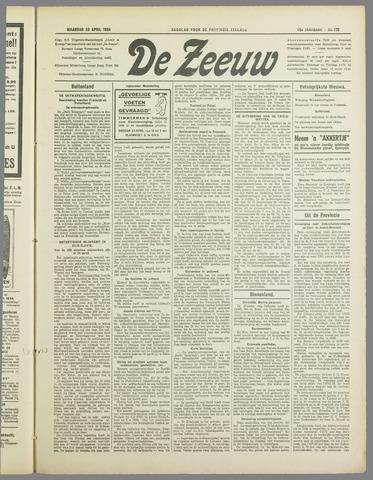 De Zeeuw. Christelijk-historisch nieuwsblad voor Zeeland 1934-04-23