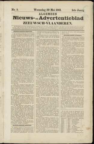Ter Neuzensche Courant. Algemeen Nieuws- en Advertentieblad voor Zeeuwsch-Vlaanderen / Neuzensche Courant ... (idem) / (Algemeen) nieuws en advertentieblad voor Zeeuwsch-Vlaanderen 1861-05-29