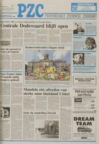 Provinciale Zeeuwse Courant 1992-09-09