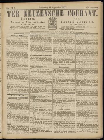 Ter Neuzensche Courant. Algemeen Nieuws- en Advertentieblad voor Zeeuwsch-Vlaanderen / Neuzensche Courant ... (idem) / (Algemeen) nieuws en advertentieblad voor Zeeuwsch-Vlaanderen 1902-09-11