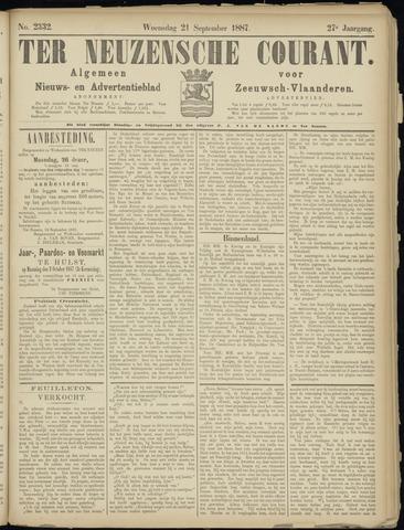 Ter Neuzensche Courant. Algemeen Nieuws- en Advertentieblad voor Zeeuwsch-Vlaanderen / Neuzensche Courant ... (idem) / (Algemeen) nieuws en advertentieblad voor Zeeuwsch-Vlaanderen 1887-09-21