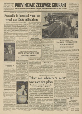 Provinciale Zeeuwse Courant 1954-10-09