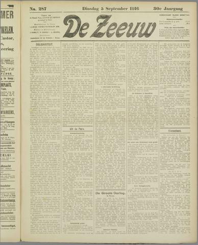 De Zeeuw. Christelijk-historisch nieuwsblad voor Zeeland 1916-09-05