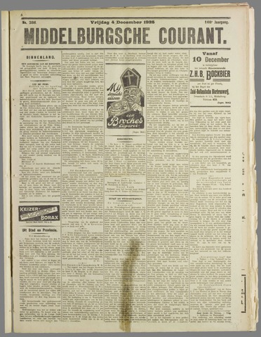 Middelburgsche Courant 1925-12-04