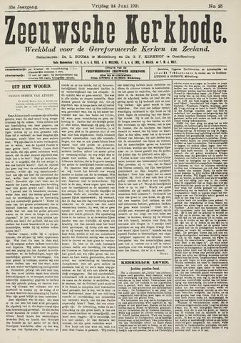 Zeeuwsche kerkbode, weekblad gewijd aan de belangen der gereformeerde kerken/ Zeeuwsch kerkblad 1921-06-24