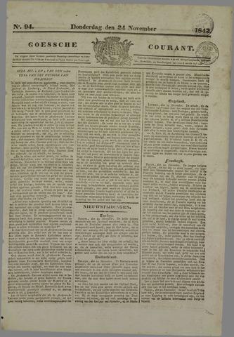 Goessche Courant 1842-11-24