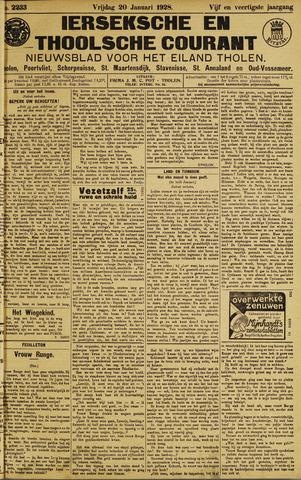 Ierseksche en Thoolsche Courant 1928-01-20