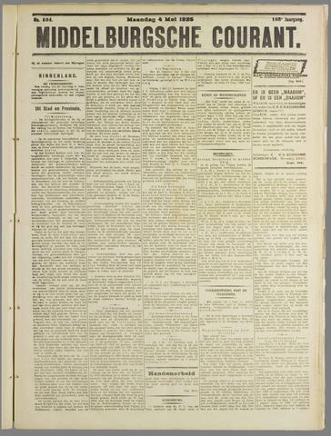 Middelburgsche Courant 1925-05-04