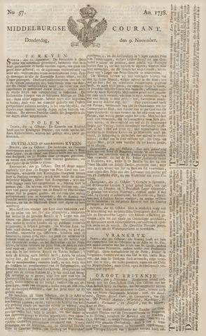 Middelburgsche Courant 1758-11-09