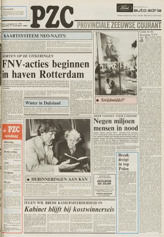 Provinciale Zeeuwse Courant 1984-11-17
