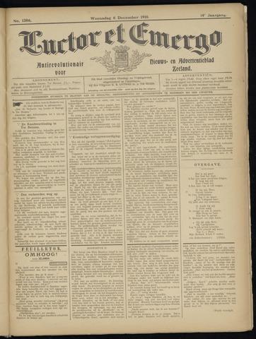 Luctor et Emergo. Antirevolutionair nieuws- en advertentieblad voor Zeeland / Zeeuwsch-Vlaanderen. Orgaan ter verspreiding van de christelijke beginselen in Zeeuwsch-Vlaanderen 1916-12-06
