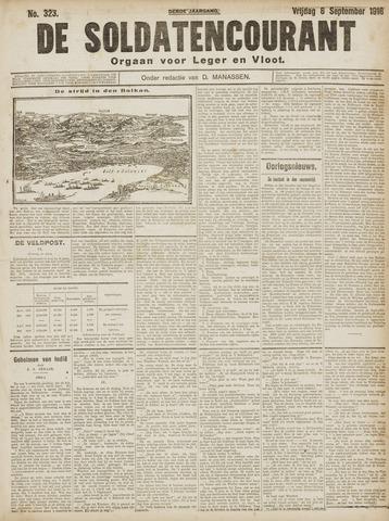 De Soldatencourant. Orgaan voor Leger en Vloot 1916-09-08