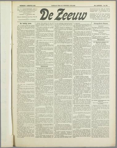 De Zeeuw. Christelijk-historisch nieuwsblad voor Zeeland 1934-08-01