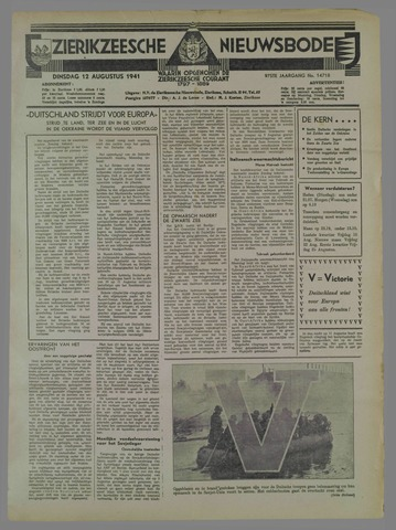 Zierikzeesche Nieuwsbode 1941-08-13