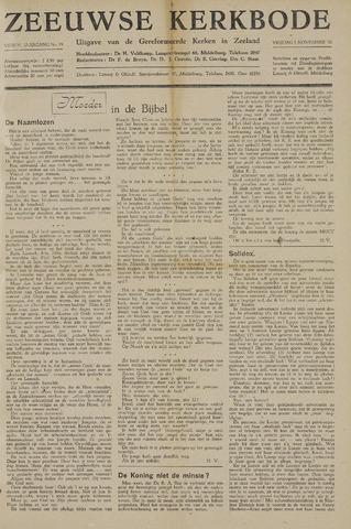 Zeeuwsche kerkbode, weekblad gewijd aan de belangen der gereformeerde kerken/ Zeeuwsch kerkblad 1948-11-05
