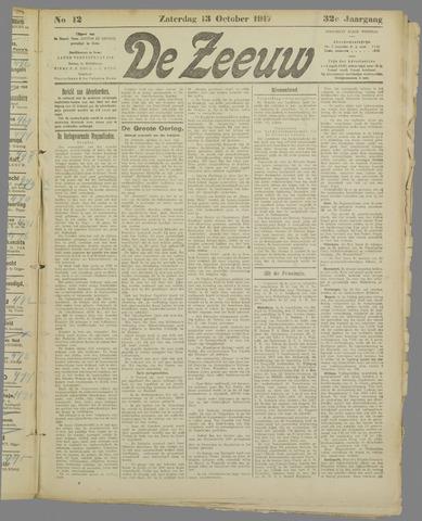 De Zeeuw. Christelijk-historisch nieuwsblad voor Zeeland 1917-10-13