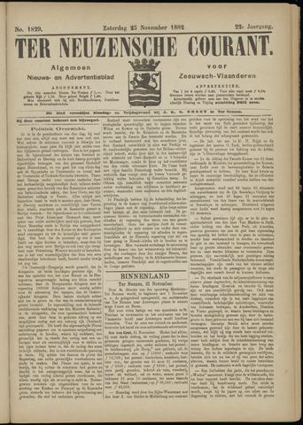 Ter Neuzensche Courant. Algemeen Nieuws- en Advertentieblad voor Zeeuwsch-Vlaanderen / Neuzensche Courant ... (idem) / (Algemeen) nieuws en advertentieblad voor Zeeuwsch-Vlaanderen 1882-11-25