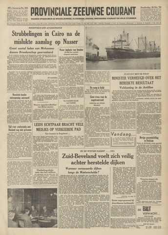 Provinciale Zeeuwse Courant 1954-10-28