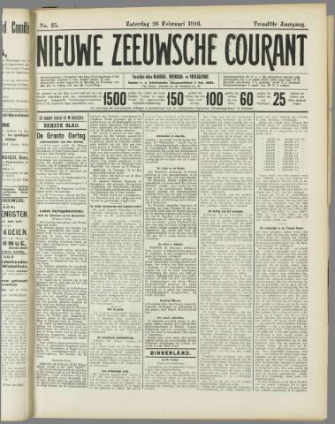Nieuwe Zeeuwsche Courant 1916-02-26