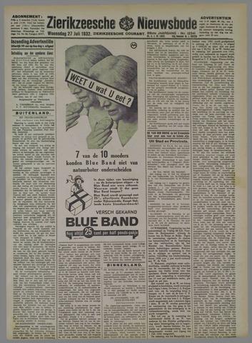 Zierikzeesche Nieuwsbode 1932-07-27