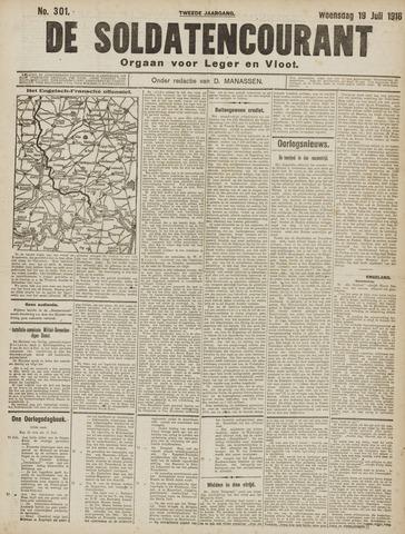 De Soldatencourant. Orgaan voor Leger en Vloot 1916-07-19