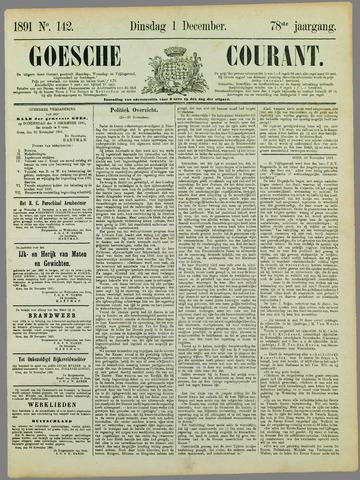 Goessche Courant 1891-12-01