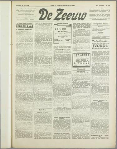 De Zeeuw. Christelijk-historisch nieuwsblad voor Zeeland 1934-07-14
