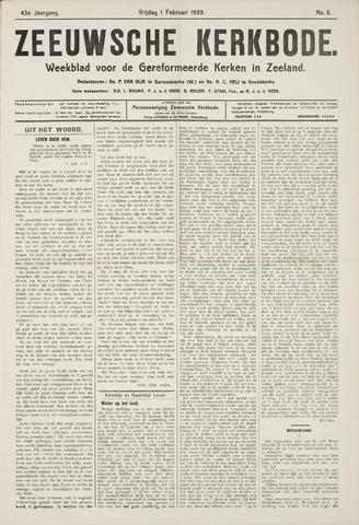 Zeeuwsche kerkbode, weekblad gewijd aan de belangen der gereformeerde kerken/ Zeeuwsch kerkblad 1929-02-01