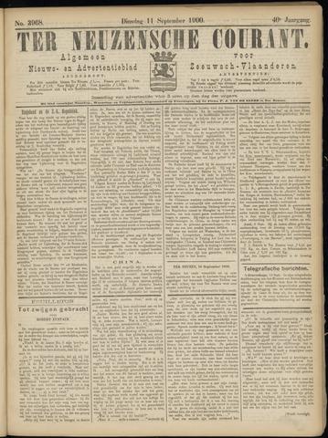 Ter Neuzensche Courant. Algemeen Nieuws- en Advertentieblad voor Zeeuwsch-Vlaanderen / Neuzensche Courant ... (idem) / (Algemeen) nieuws en advertentieblad voor Zeeuwsch-Vlaanderen 1900-09-11