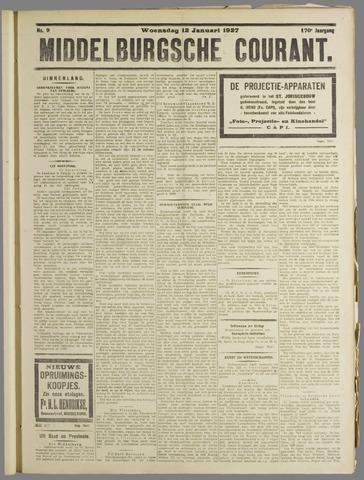 Middelburgsche Courant 1927-01-12