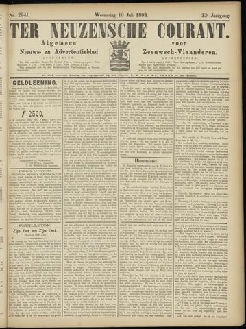 Ter Neuzensche Courant. Algemeen Nieuws- en Advertentieblad voor Zeeuwsch-Vlaanderen / Neuzensche Courant ... (idem) / (Algemeen) nieuws en advertentieblad voor Zeeuwsch-Vlaanderen 1893-07-19