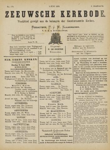 Zeeuwsche kerkbode, weekblad gewijd aan de belangen der gereformeerde kerken/ Zeeuwsch kerkblad 1890-06-07