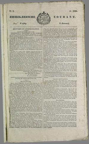 Zierikzeesche Courant 1834