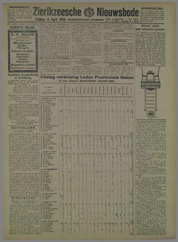 Zierikzeesche Nieuwsbode 1923-04-13