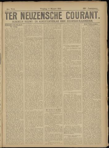 Ter Neuzensche Courant. Algemeen Nieuws- en Advertentieblad voor Zeeuwsch-Vlaanderen / Neuzensche Courant ... (idem) / (Algemeen) nieuws en advertentieblad voor Zeeuwsch-Vlaanderen 1921-03-04